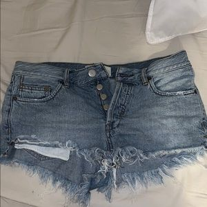 Blue jean free people shorts